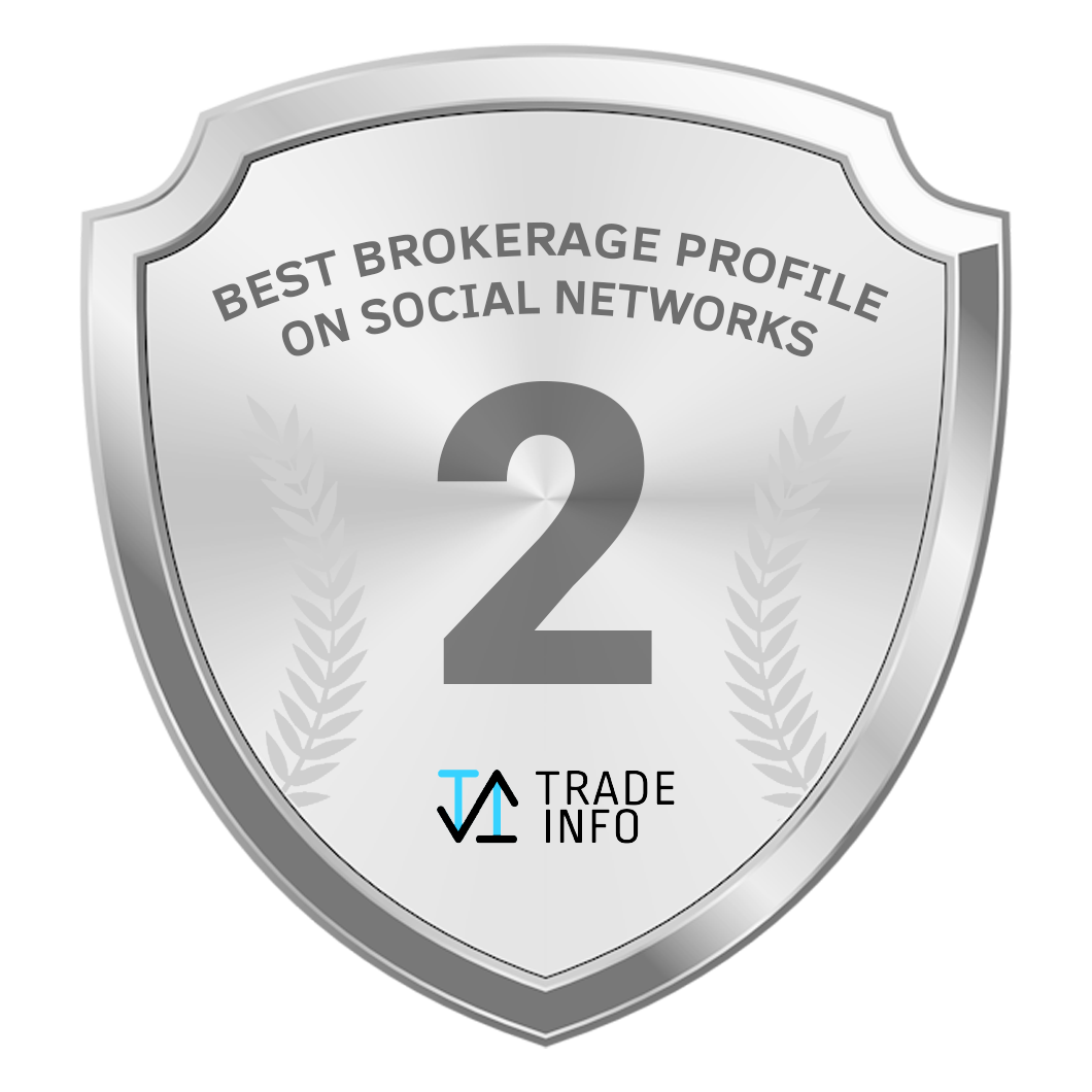 Award, second place for the best broker profile on social media