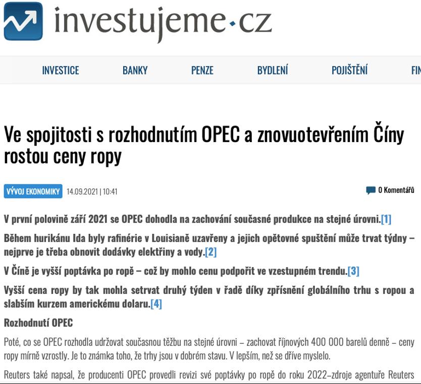 CapitalPanda | Analýza společnosti Capital Panda na téma růstu cen ropy