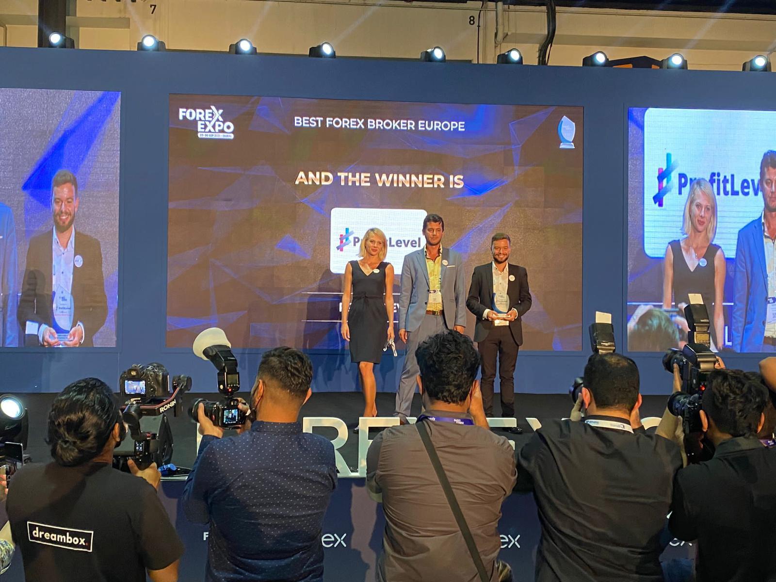 Η ProfitLevel βραβεύτηκε ως ο καλύτερος Ευρωπαίος Μεσίτης Forex στην Forex Expo στο Ντουμπάι 2021