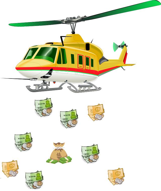 Helicopter money: Absurdná stratégia, kedy nikto nepracuje, ale trhy rastú